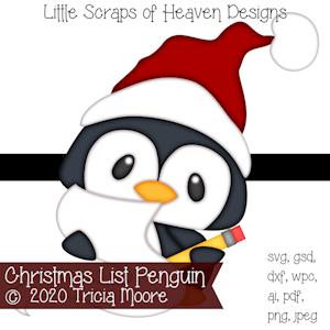 Christmas List Penguin