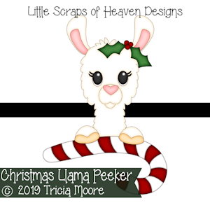Christmas Llama Peeker