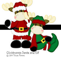 Christmoose Santa and Elf