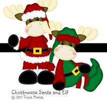 Christmoose Santa and Elf