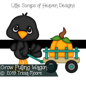 Crow Pulling Wagon