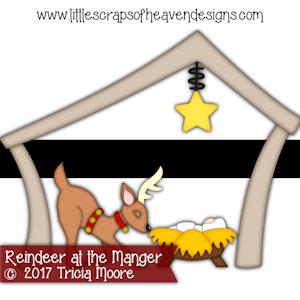 Reindeer at the Manger