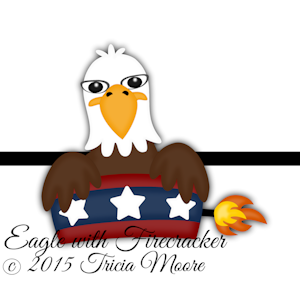 Eagle with Firecracker