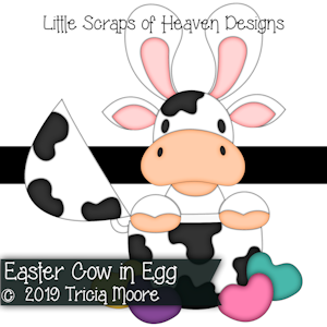 Easter Cow in Egg