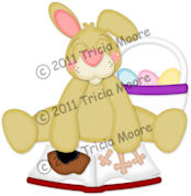 Easter Bunny with Bible Pattern