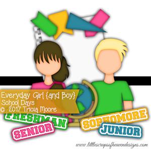 Everyday Girl and Boy School Days