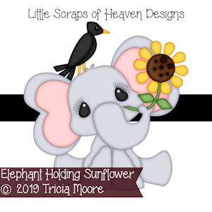 Elephant Holding Sunflower