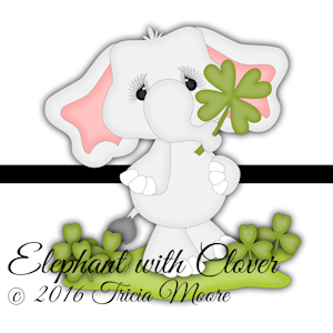 Elephant with Clover