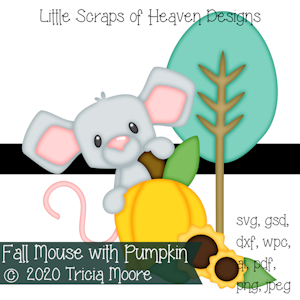 Fall Mouse with Pumpkin