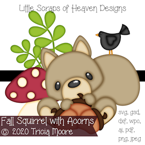 Fall Squirrel with Acorns