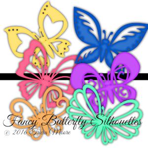 Fancy Butterfly Silhouettes