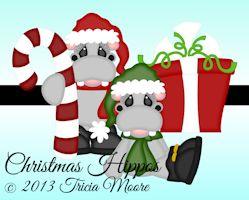 Christmas Hippos