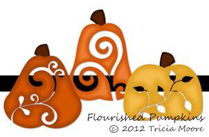 Flourished Pumpkins