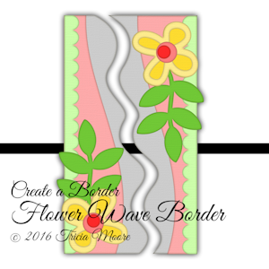 cab Flower Wave Border