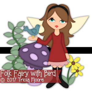 Folk Fairy with Bird