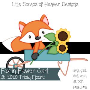 Fox in Flower Cart