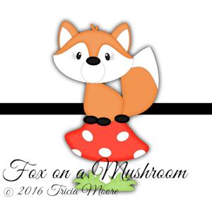 fox on a mushroom