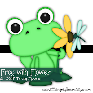 Frog with Flower