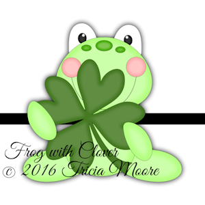 Frog with Clover