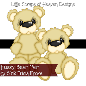 Fuzzy Bear Pair