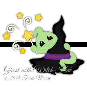 Ghost with Witch Hat