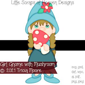 Girl Gnome with Mushroom