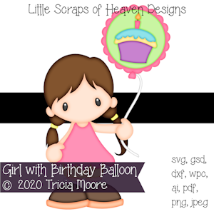 Girl with Birthday Balloon