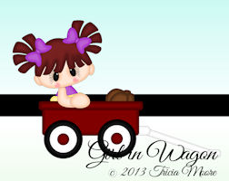 Girl in Wagon