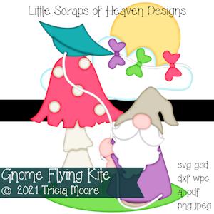 Gnome Flying Kite