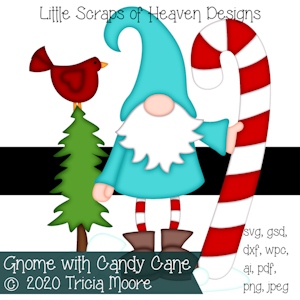 Gnome with Candy Cane