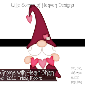 Gnome with Heart Chain