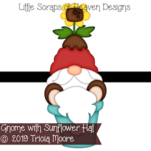 Gnome with Sunflower Hat