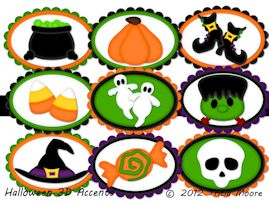 Halloween 3D Accents
