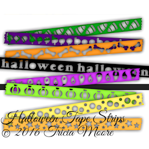 Halloween Tape Strips
