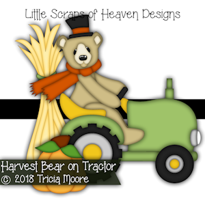Harvest Bear on Tractor