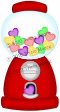 Heart Gumball Machine Pattern