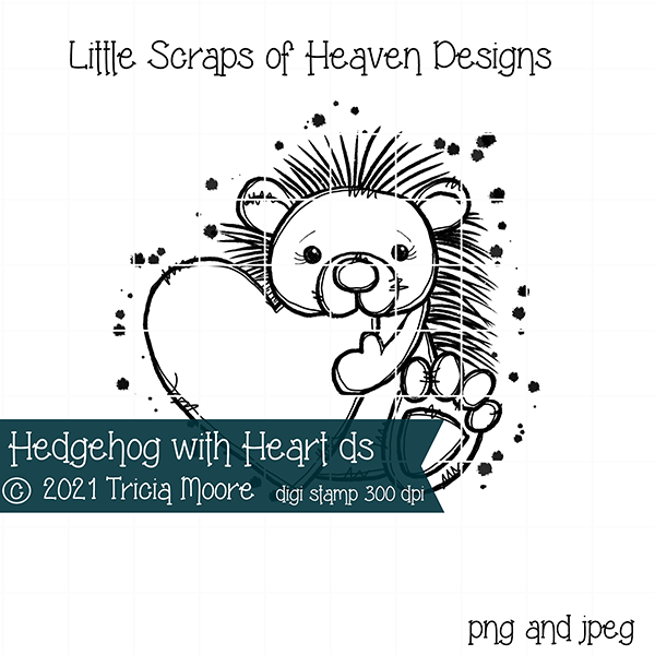Hedgehog with Heart ds