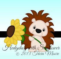 Hedgehog with Sunflower