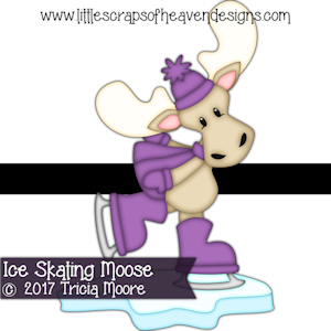 Ice Skating Moose