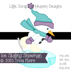Ice Skating Snowman