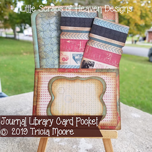 Journal Library Card Pocket