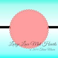 Large Lace Mat Hearts