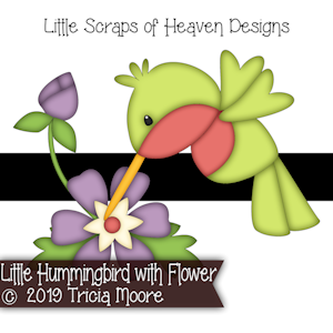 Little Hummingbird with Flower
