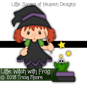 Little Witch with Frog