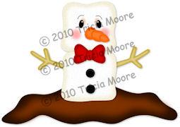 Marshmallow Snowman Paper Piecing Pattern