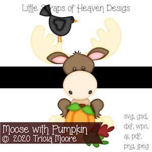 Moose with Pumpkin