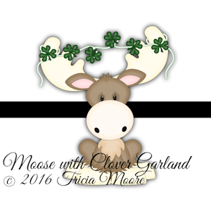 Moose with Clover Garland