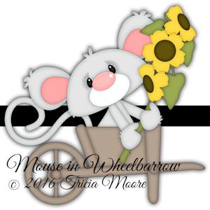 Mouse in Wheelbarrow