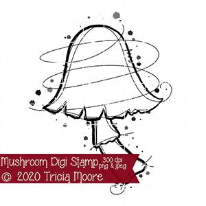 Mushroom Digi Stamp