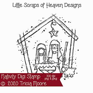 Nativity Digi Stamp